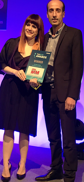 iot evangelist of the year award with Ana Matronic